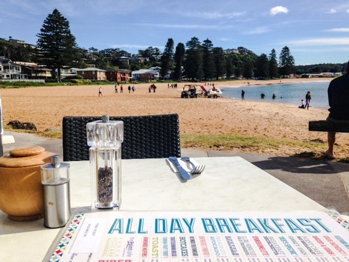 The Point cafe at Avoca Beach