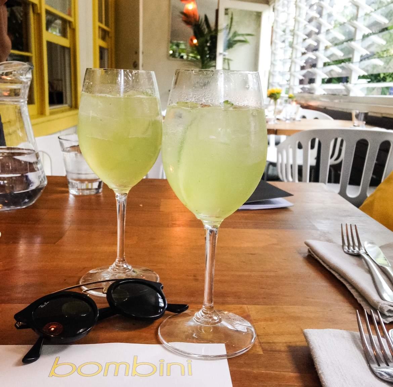 Cucumber spritz at Bombini