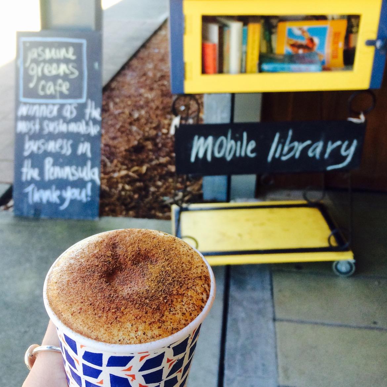 Turmeric latte at Jasmine Greens, Umina Beach. Photo: Lauren Riley