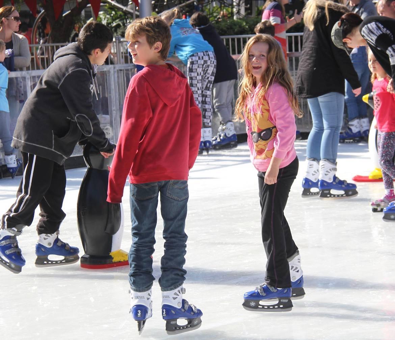 Ice skating in Kibble Park