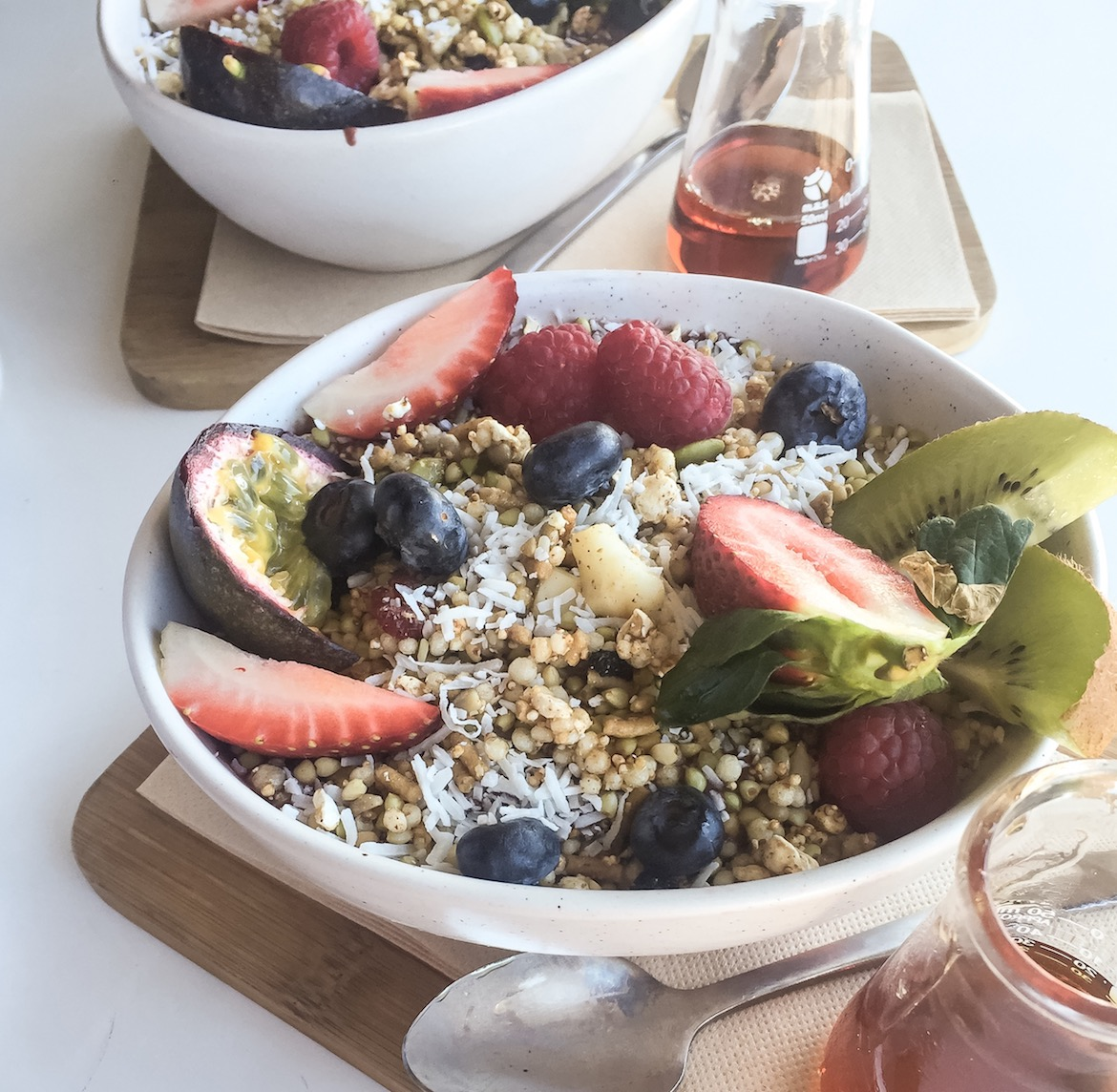 Smoothie bowls at Glee Coffee Roasters. Photo: Lauren Riley