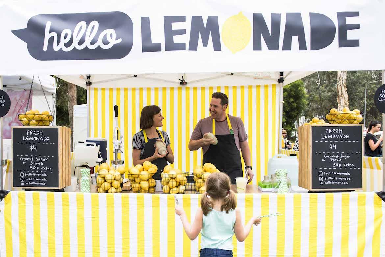 Hello Lemonade at Umina Beach Markets. Photo: Lisa Haymes