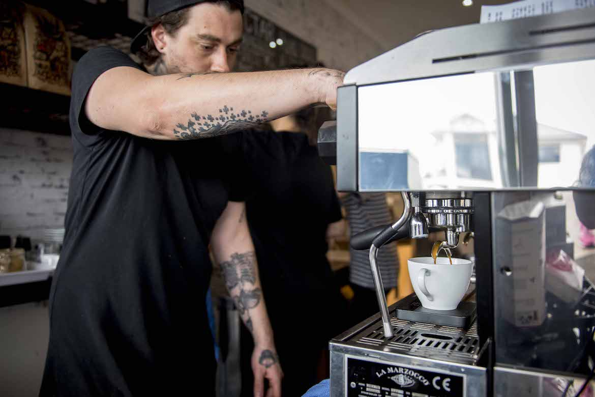 Lords of Pour coffee. Photo: Lisa Haymes