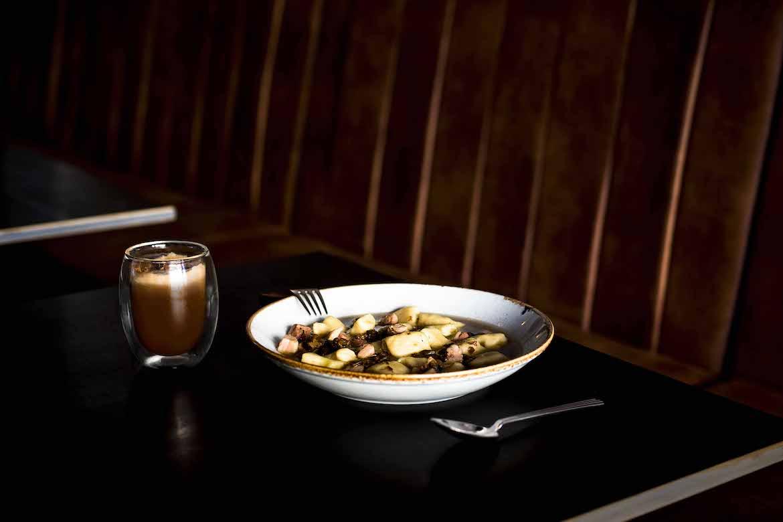 Tiramisu and pork belly gnocchi at Rhonda's Bar, Terrigal. Photo: Lisa Haymes