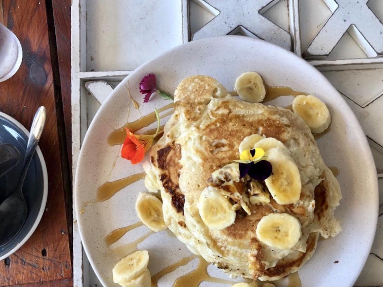 Pancakes at Glee Coffee Erina. Photo Zoe Thomson