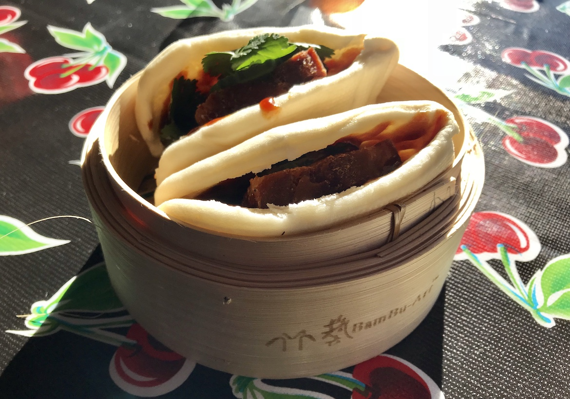 Bao buns at The Lucky Bee at Frankie's Rooftop, Woy Woy